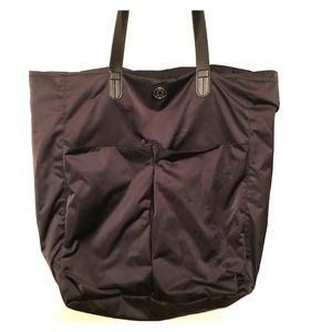Lululemon Black Nylon Tote Bag Large